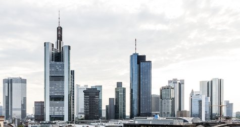 Banks in Frankfurt Skyline
