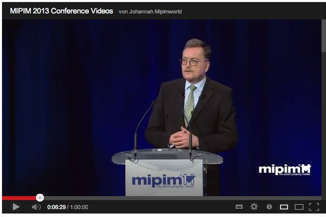 MIPIM 2013 keynote speech