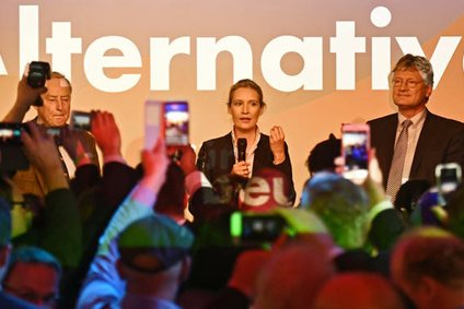 Alexander Gauland and Alice Weidel on election night