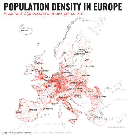 European population density.