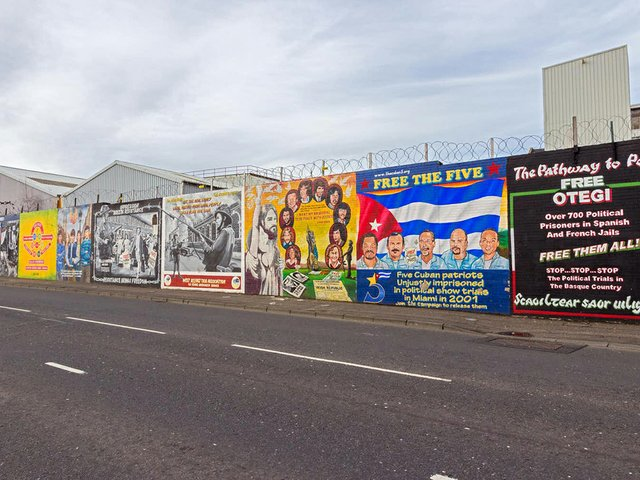 Belfast's peace walls.
