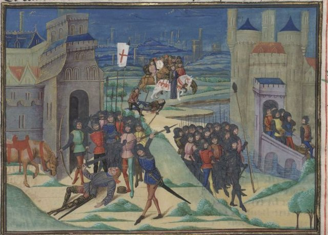 Peasants revolting in 1381