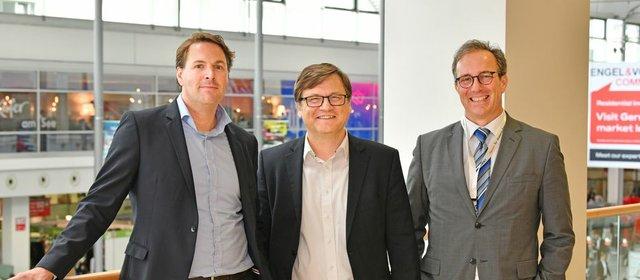 Moritz Koppe, Robert Mühlstein sowie Marc Bonner (v.l.)