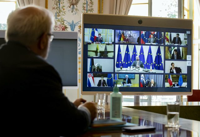 EU leaders are currently meeting virtually.