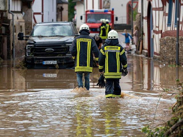 Flooding in Ahrweiler, Germany, July 15 2021.