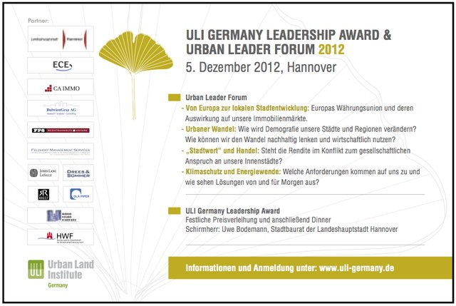 Urban Leader Forum & Leadership Award 2012